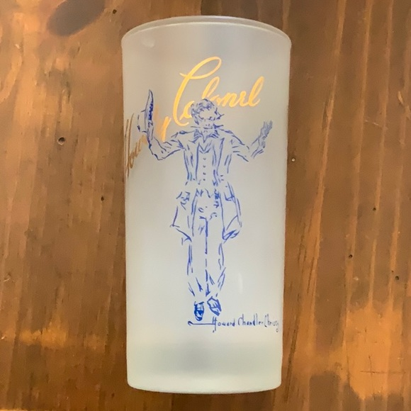 Howdy Colonel set of 4 Vintage Mid Century Glasses